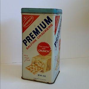 Vintage Premium cracker tin